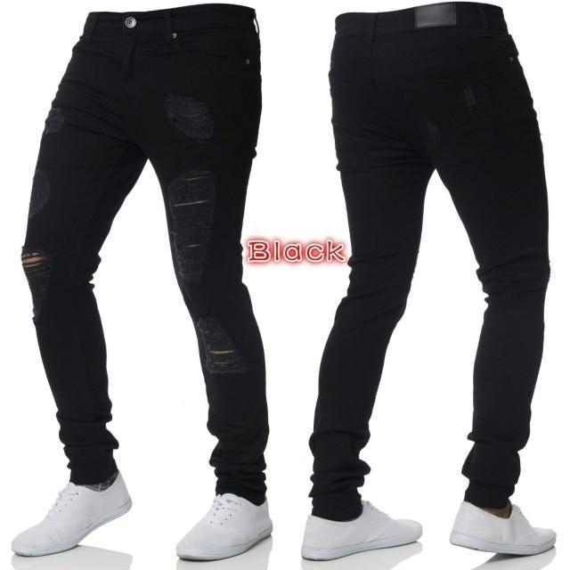 black ripped jeans mens