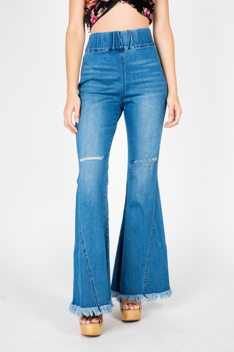 high waisted flare jeans